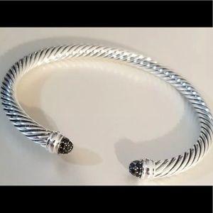 David Yurman 5mm black diamonds bracelet